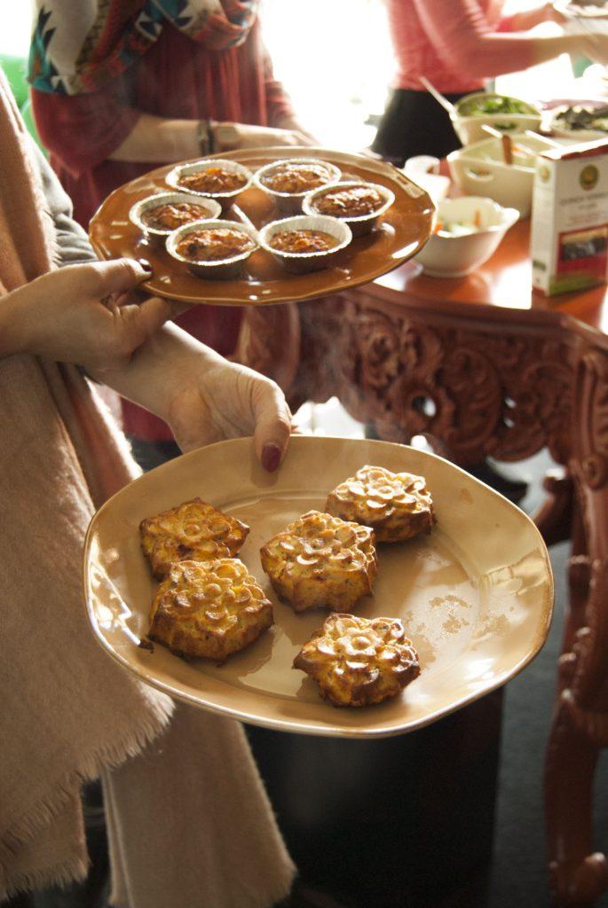muffins de vegetais saudáveis