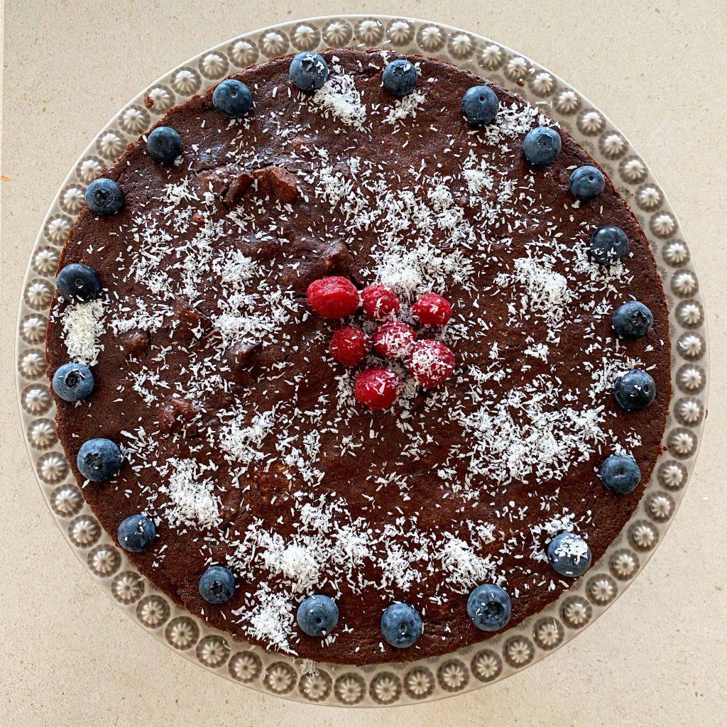 o meu Brownie de chocolate e nozes
